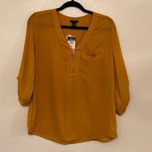mustard yellow blouse boho gold cute